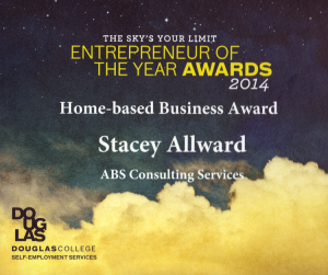 Douglas College Entrepreneur of the Year – Home-based Business Award 2014